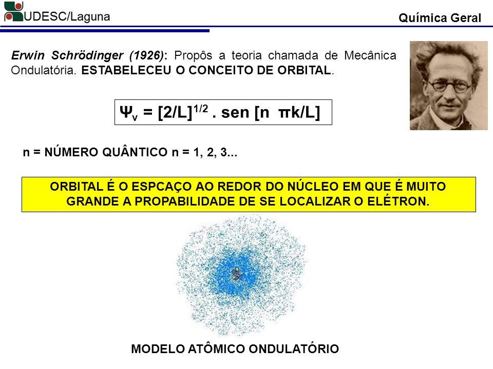 Ψv = [2/L]1/2 . sen [n πk/L] Química Geral